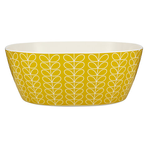 Buy Orla Kiely Stem Melamine Salad Bowl, Lemon Online at johnlewis.com