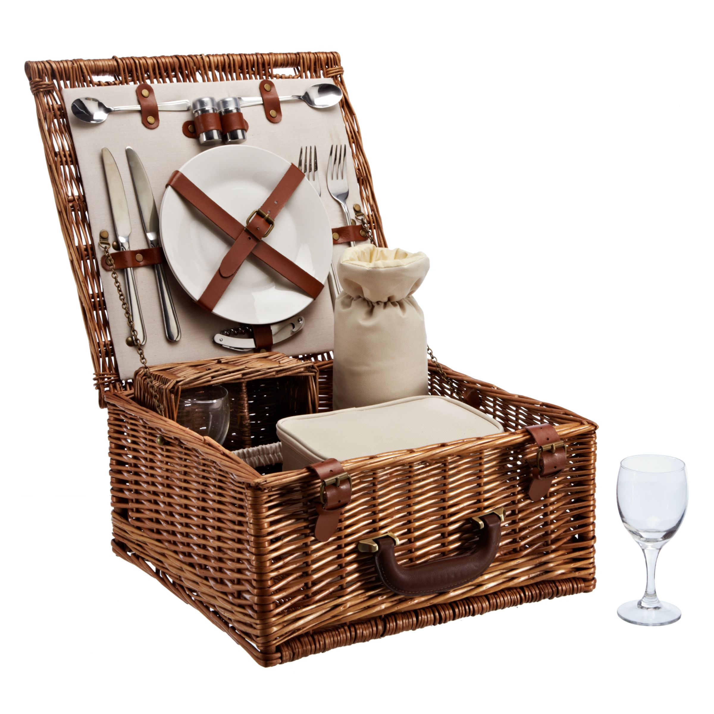 John Lewis Willow Luxury Picnic Hamper, 2 Persons