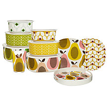 Buy Orla Kiely Pear Picnicware, Candy Floss Online at johnlewis.com