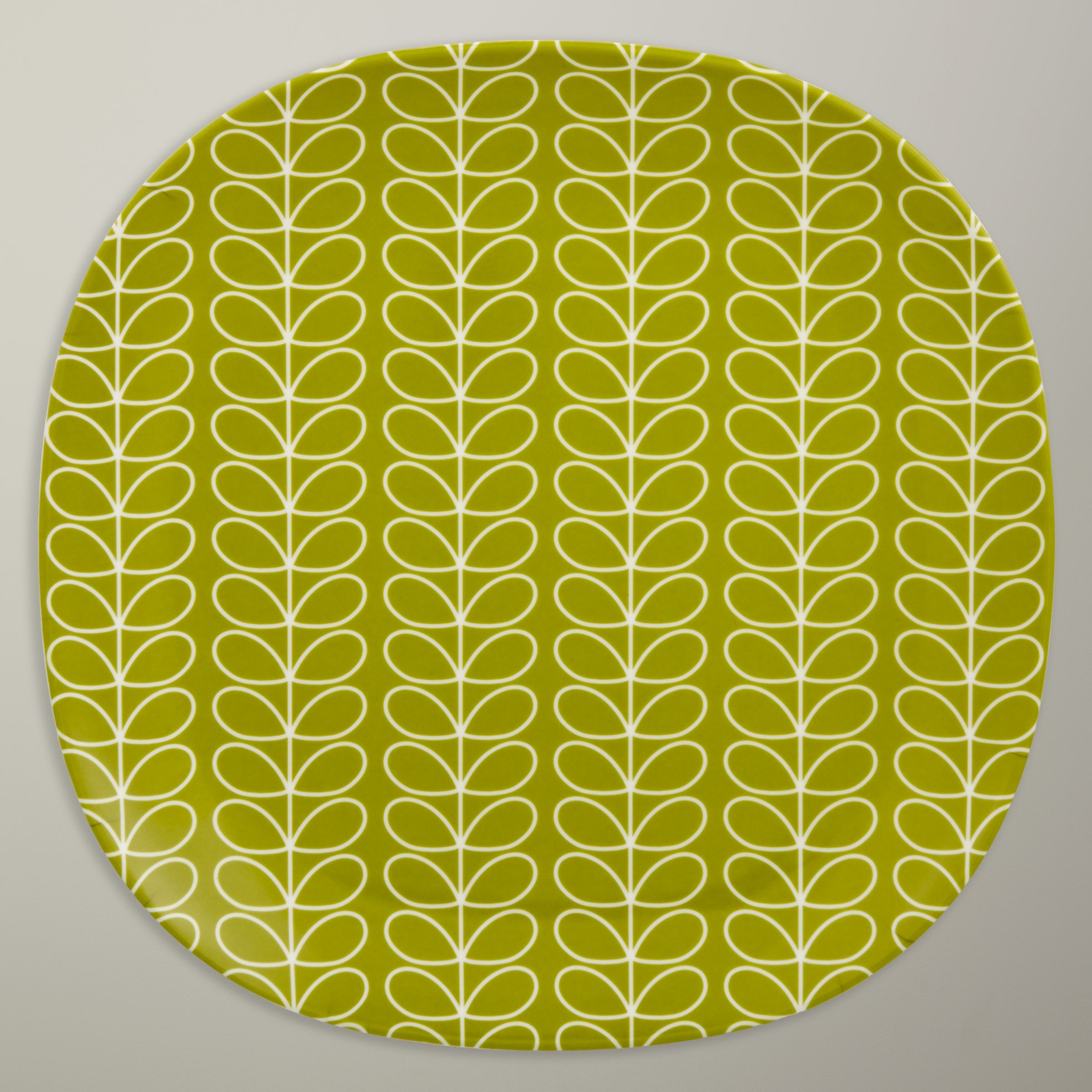 Orla Kiely Linear Stem Melamine Side Plate, Candy Floss