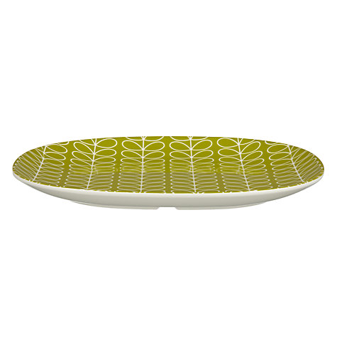 Buy Orla Kiely Linear Stem Melamine Side Plate, Candy Floss Online at johnlewis.com