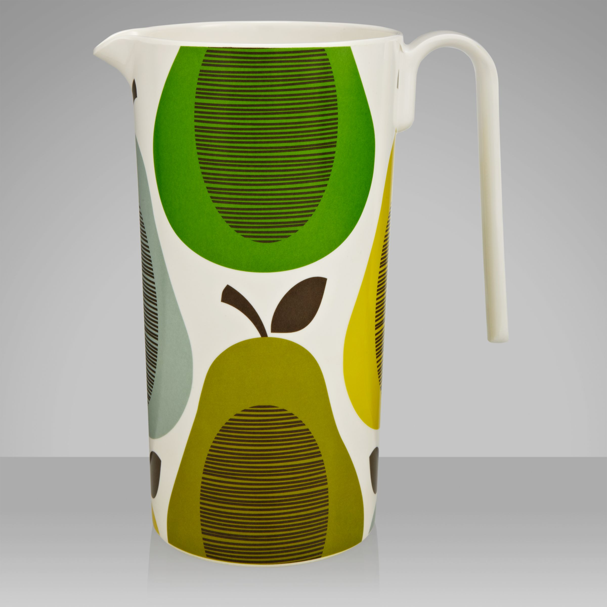 Orla Kiely Melamine Pitcher, Pear Mint