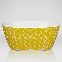 Buy Orla Kiely Linear Stem Melamine Bowl, Lemon, Small Online at johnlewis.com