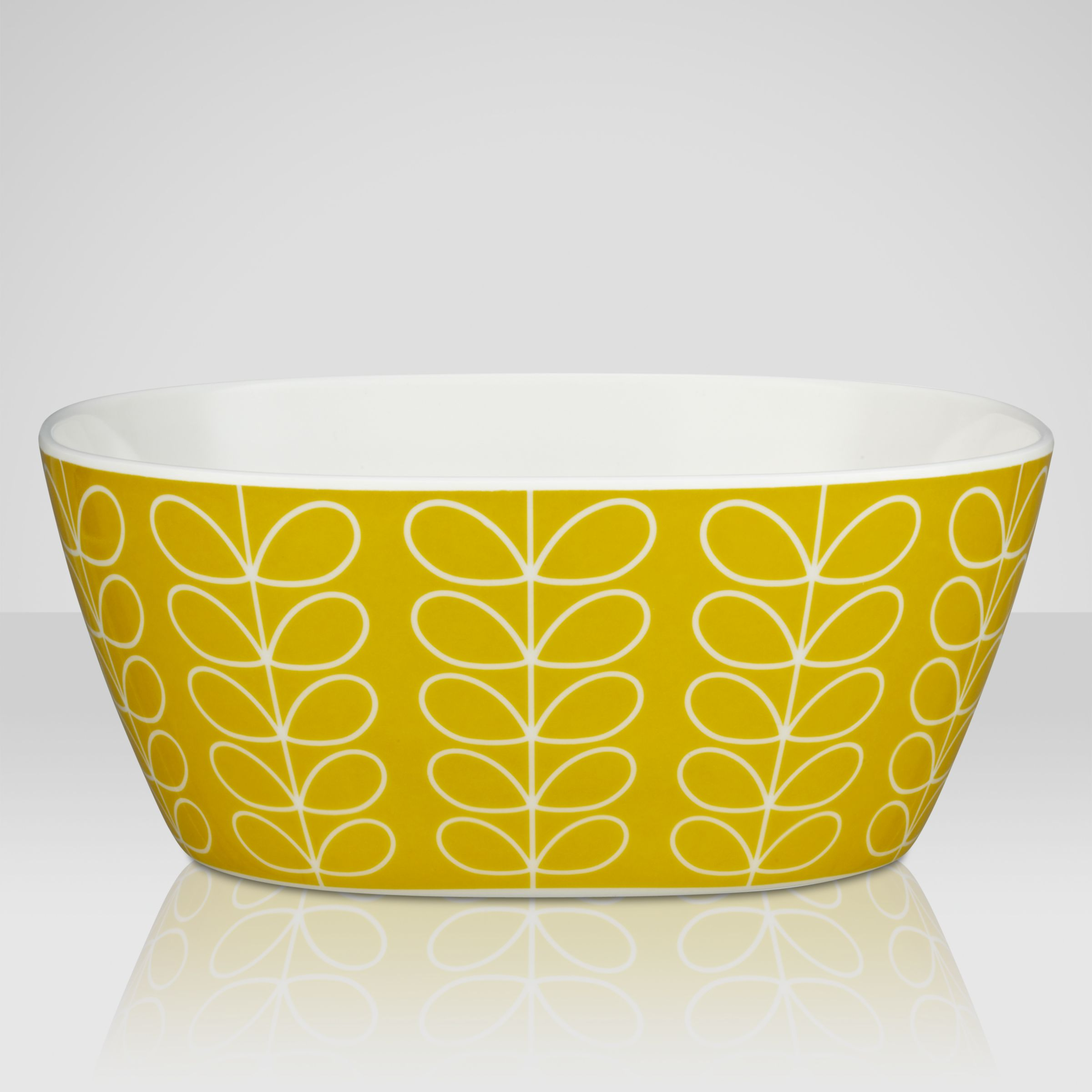 Orla Kiely Linear Stem Melamine Bowl, Lemon, Small