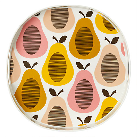 Buy Orla Kiely Pear Melamine Tray, Candy Floss Online at johnlewis.com