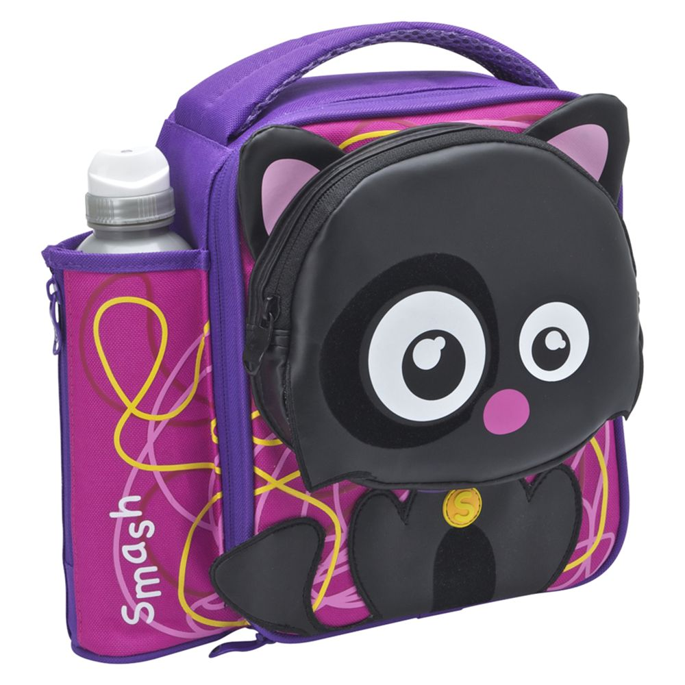 Smash Quirkz Lucky Cat Lunch Bag, Purple