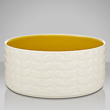 Buy Orla Kiely Raised Stem Salad Bowl, Cream/Yellow Online at johnlewis.com