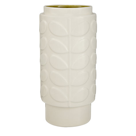 Buy Orla Kiely Abacus Ceramic Vase, Cream/Green, Medium Online at johnlewis.com