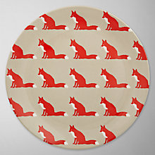Buy Anorak Proud Fox Melamine Plate Online at johnlewis.com