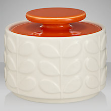 Buy Orla Kiely Raised Stem Ceramic Sugar Jar, Cream/Orange Online at johnlewis.com