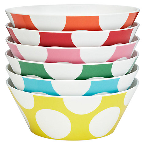 Buy Cath Kidston Big Spot Bowls, Set of 6 Online at johnlewis.com