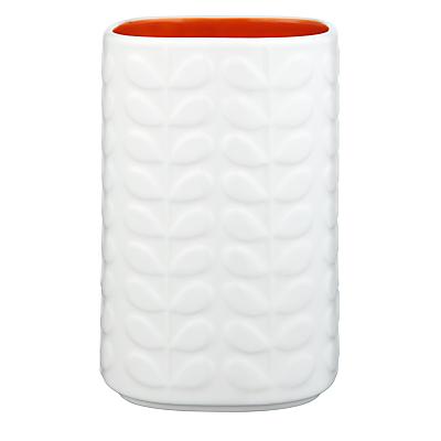 Orla Kiely Raised Stem Utensil Holder, Cream/Orange