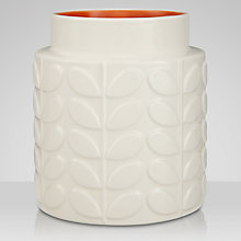 Buy Orla Kiely Linear Ceramic Vase, Cream/Orange, Large Online at johnlewis.com