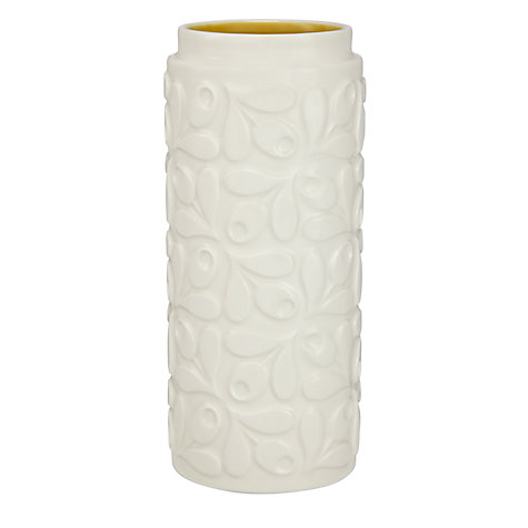 Buy Orla Kiely Acorn Ceramic Vase, Cream/Yellow, Small Online at johnlewis.com