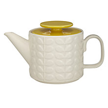 Buy Orla Kiely Raised Stem Ceramic Teapot, Cream/Yellow Online at johnlewis.com
