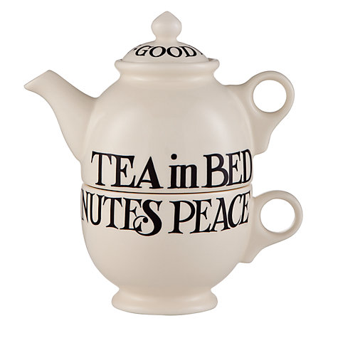 Buy Emma Bridgewater Black Toast Tea For One Set, 0.3L, Black Online at johnlewis.com