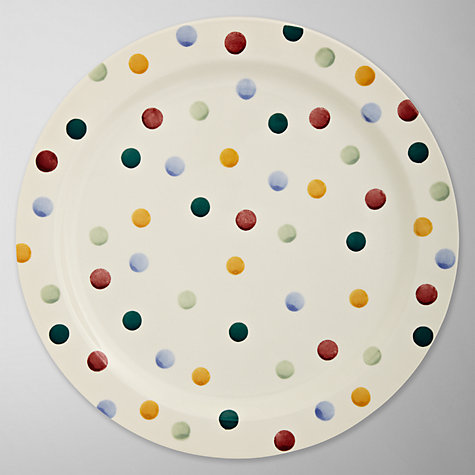 Buy Emma Bridgewater Polka Dot Round Platter, Dia.39cm, Multi Online at johnlewis.com