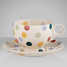 Buy Emma Bridgewater Polka Dot Teacup & Saucer, 0.3L, Multi Online at johnlewis.com