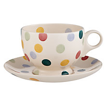 Buy Emma Bridgewater Polka Dot Tea Cup & Saucer, 0.3L, Multi Online at johnlewis.com