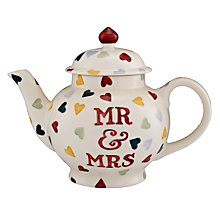 Buy Emma Bridgewater Polka Hearts Mr And Mrs Teapot, 1.4L Online at johnlewis.com