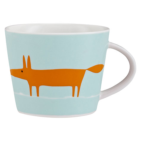 Buy Scion Mr Fox Mug, 0.35L, Duck Egg Online at johnlewis.com