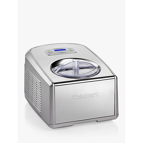 Buy Cuisinart ICE100BCU Professional Gelato and Ice Cream Maker, Silver Online at johnlewis.com