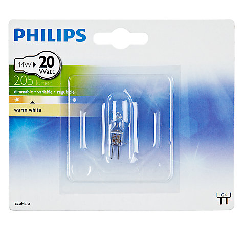 Buy Philips 14W G4 Eco Halogen X1 Capsule Bulb Online at johnlewis.com