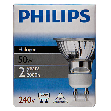 Buy Philips 50W GU10 Spotlight, Pack of 6 Online at johnlewis.com