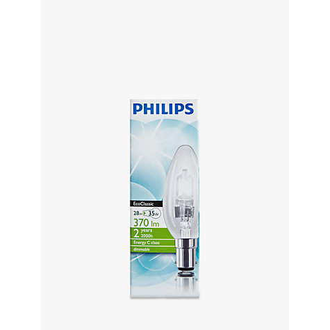 Buy Philips 28W SBC Classic Halogen Candle Bulb Online at johnlewis.com