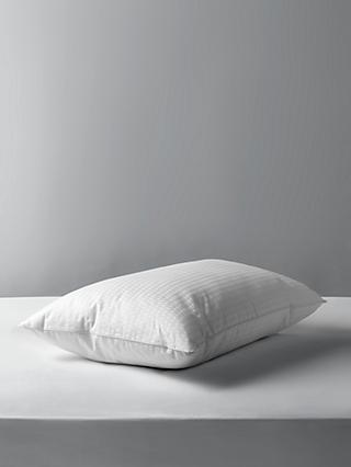 John Lewis & Partners Synthetic Collection Breathable Microfibre Standard Pillow, Medium/Firm