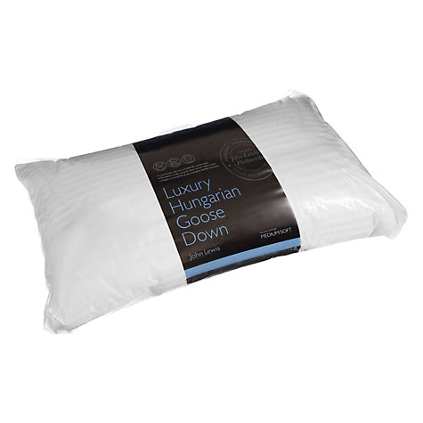 Buy John Lewis Luxury Hungarian Goose Down Kingsize Pillow, Soft/Medium Online at johnlewis.com