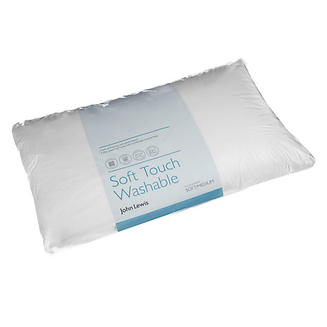 Buy John Lewis Soft Touch Washable Standard Pillow, Soft/Medium Online at johnlewis.com