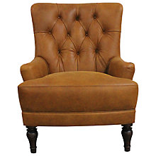 Buy John Lewis Durham Leather Armchair, Outback Online at johnlewis.com