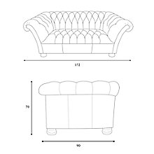 Buy John Lewis Cambridge Medium Leather Chesterfield Sofa, Outback Online at johnlewis.com