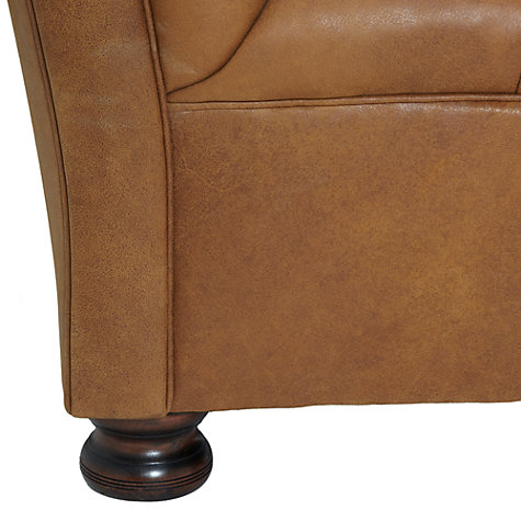 Buy John Lewis Cambridge Large Leather Chesterield Sofa, Outback Online at johnlewis.com