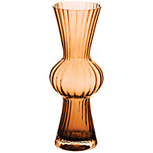 Buy Dartington Kindred Flared Vase, H24cm, Amber Online at johnlewis.com