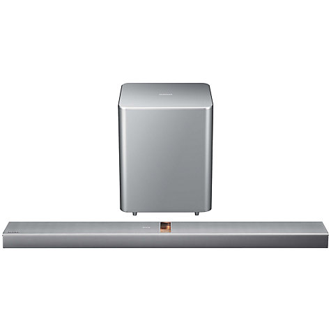 Buy Samsung HW-F751 2.1 Bluetooth Home Cinema Sound Bar with Valve Amp and Wireless Subwoofer, Silver Online at johnlewis.com