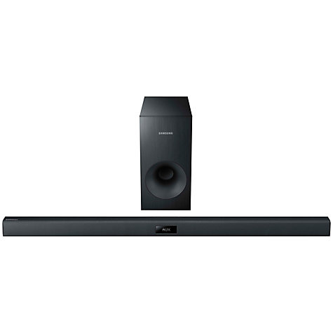 Buy Samsung HW-F355 2.1 Bluetooth Sound Bar with Subwoofer, Black Online at johnlewis.com