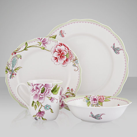 Buy Sanderson for Portmeirion Porcelain Garden Dinner Place Setting, Set of 4 Online at johnlewis.com