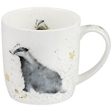 Buy Royal Worcester Wrendale Country Gent Badger Mug Online at johnlewis.com