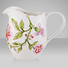 Buy Sanderson for Portmeirion Porcelain Garden Pitcher, 0.3L, Pink Online at johnlewis.com