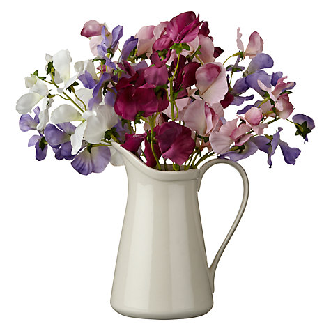 Buy Sweet Peas In White Jug Online at johnlewis.com