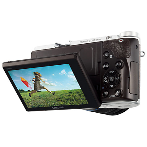 "Buy Samsung NX300 Compact System Camera with 20-50mm, HD 1080p, 20.3MP, Wi-Fi, NFC, Flash, 3.31"" Tilting Touch Screen Online at johnlewis.com"