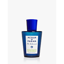 Buy Acqua di Parma Blu Meditarraneo Bergamotto di Calabria Shower Gel, 200ml Online at johnlewis.com