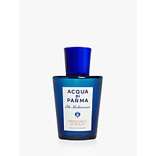 Buy Acqua di Parma Blu Mediterraneo Mandorlo di Silicia Shower Gel, 200ml Online at johnlewis.com