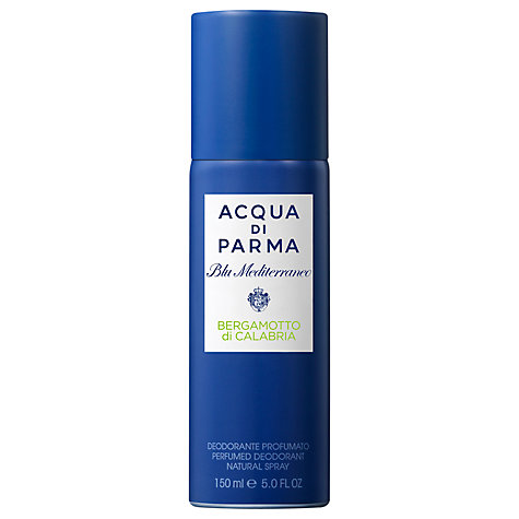 Buy Acqua Di Parma Blu Meditarraneo Bergamotto di Calabria Deodorant Spray, 150ml Online at johnlewis.com