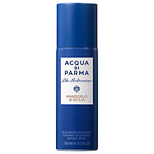 Buy Acqua Di Parma Blu Meditarraneo Mandorlo di Sicilia Deodorant Spray, 150ml Online at johnlewis.com