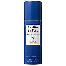 Buy Acqua di Parma Blu Meditarraneo Arancia di Capri Deodorant Spray, 150ml Online at johnlewis.com