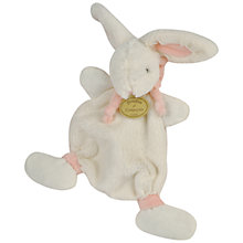Buy Doudou et Compagnie Rabbit Comfort Blanket, Pink Online at johnlewis.com