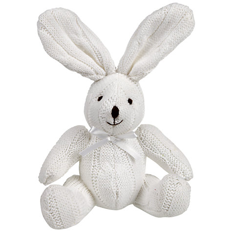 Buy John Lewis Cable Knit Rabbit, White Online at johnlewis.com